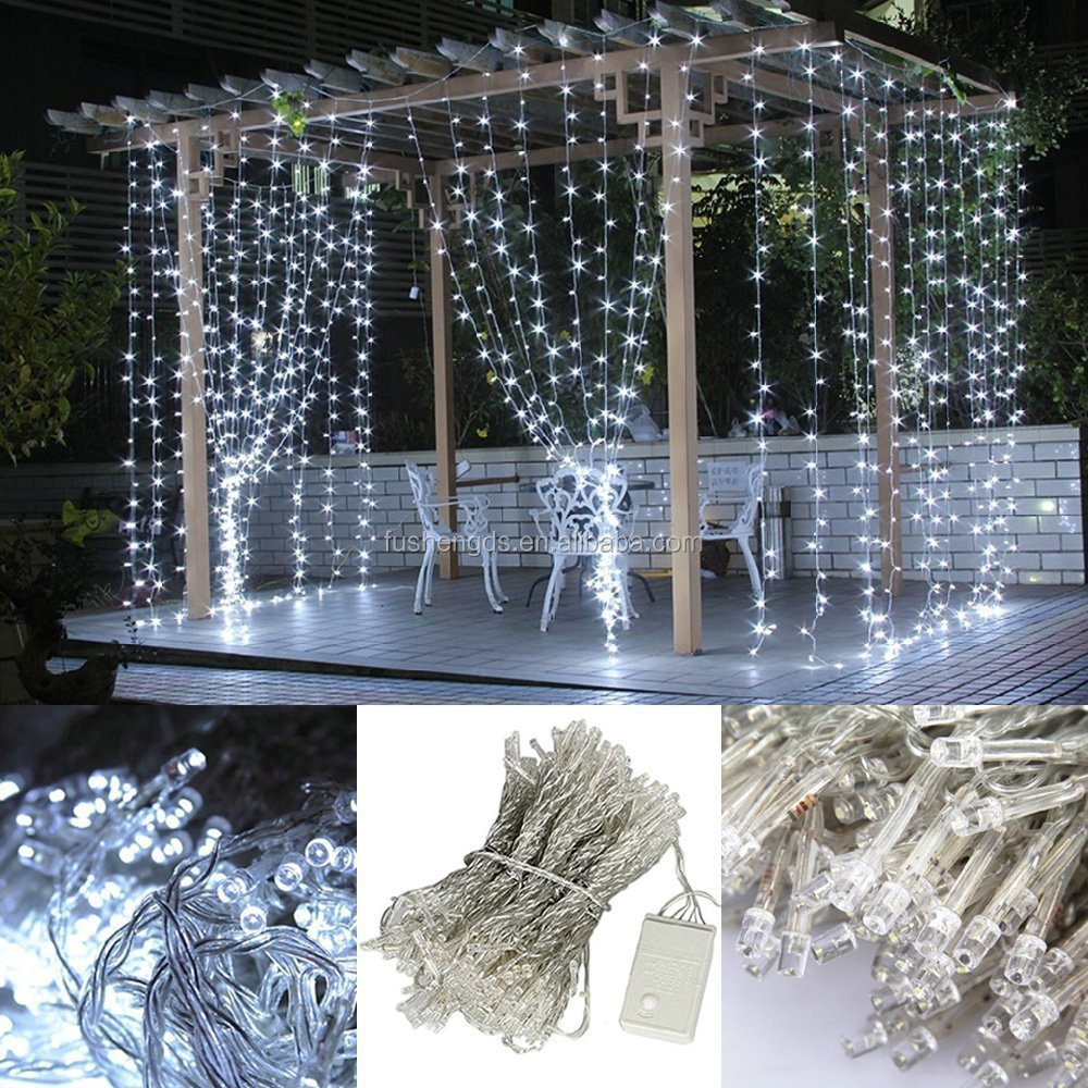 Outdoor and indoor christmas decorative pvc led curtain for Net decoration ideas