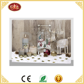 wall art decorations led light christmas painting picture frame