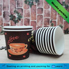 7oz 8oz custom printed coffee beverage paper cups with transparent plastic lid