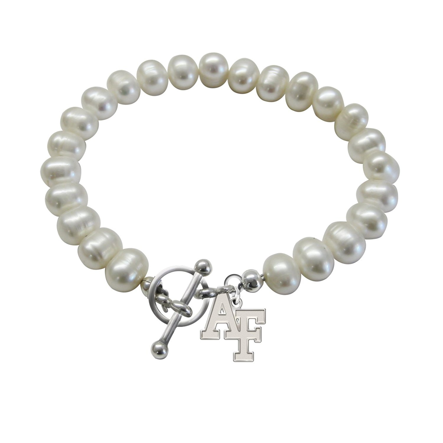 U.S. Air Force Academy Falcons Freshwater Pearl Charm Bracelet