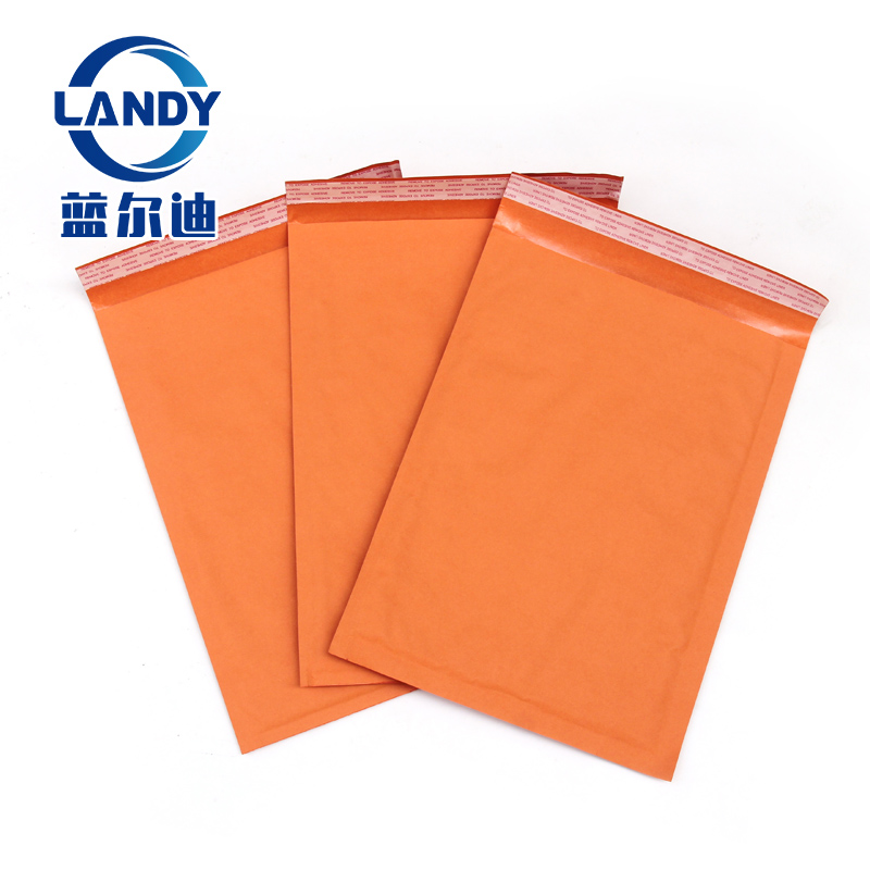 Padded bubble orange kraft bubble mailer,expandable tough paper jiffy bags