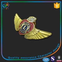 Custom high quality gold badge,lapel pin badge for sale