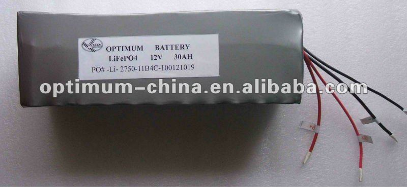 solar battery lifepo4 battery 12v 30ah ev battery