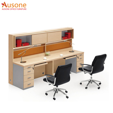Modern design workstation used office screens