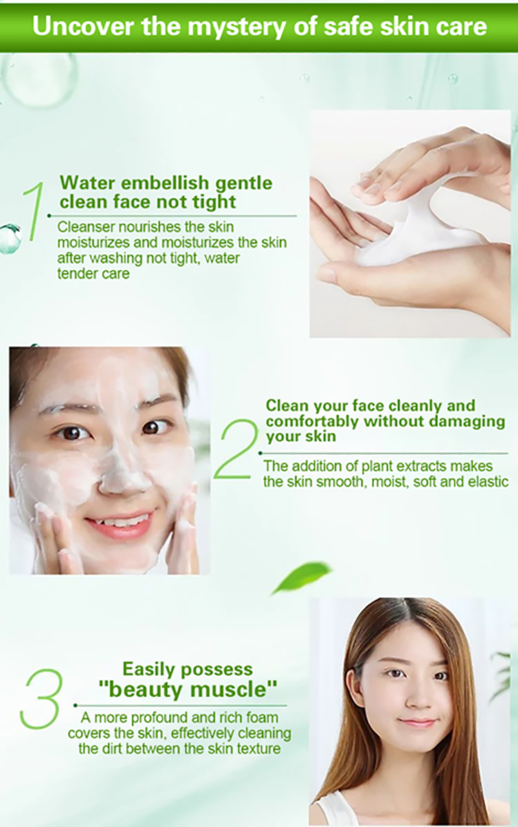 OEM Personal Skin Care Whitening vc Vitamin c  Face Wash Amino Acid Foaming Facial Cleanser