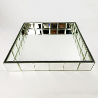 decorative jewelry glass mirror serving tray