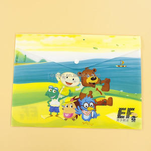 Supplier Student Cartoon Foldable File Folder With Button