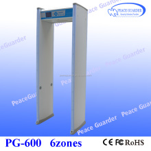 "Standard 6Zone Walk Through Metal Detector With 5.7"" LCD Screen PG-600"