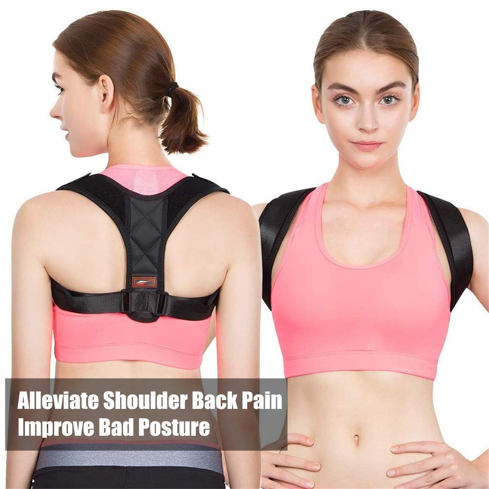 9a3d8aa67 Get Quotations · Posture Corrector for Women Adjustable Posture Corrector  for Men Neck Pain Relief Back Posture Brace for
