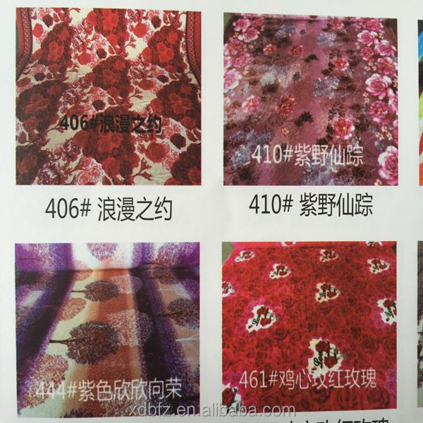 cheap price stock lot printed flannel fabric with 100% polyester