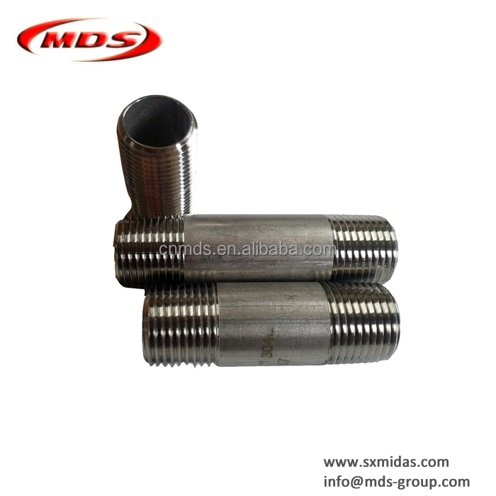 SS304 seamless stainless steel pipe fittings nipple