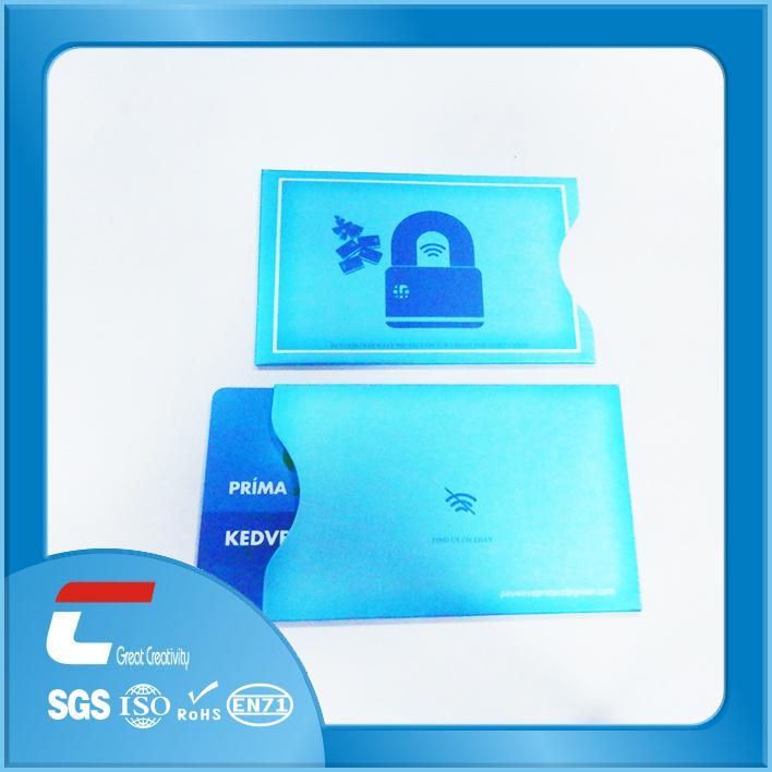 Rfid Blocking Sleeve/security Alloy Rfid Blocking Wallet/rfid ...