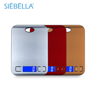 BSCI Factory Supply Hot Selling LFGB Pass Color Option Stainless Kitchen Scale Digital Kitchen Digital Scale Food Scale