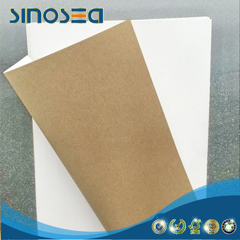 one side clay coated bleached white top kraft back liner paper