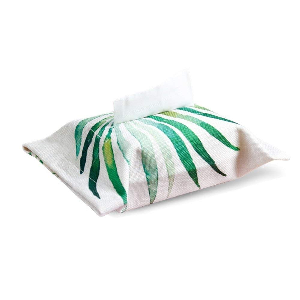 DHG Rainforest Tissue Box Plant Living Room Paper Set Green Leaf Napkins Paper Towel Paper Towel Box Cotton Cloth