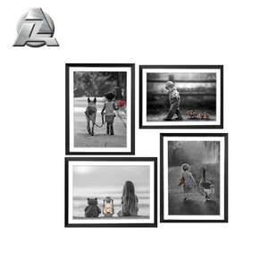A1 A2 A3 A4 Black Large Extruded Aluminum Thin Metal Picture Photo Frame