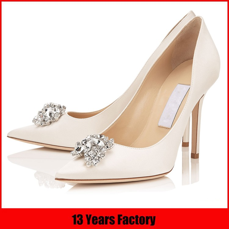 f36cbeb11 Lady High Heel Bridal Fancy Ivory Wedding Shoes Luxury Sandal Shoes ...