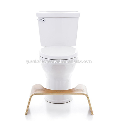 Natural Bamboo Bathroom Toilet Stool