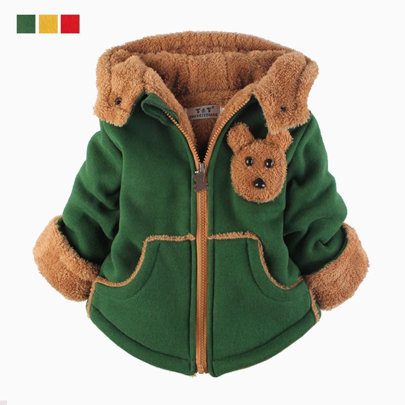Мальчики и девочки хлопок младенческой хлопок и бархат зима теплая куртка ребенок зимняя одежда размер 80 - 120