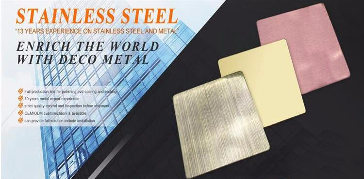 201 304 pattern vibration stainless steel sheet for construction