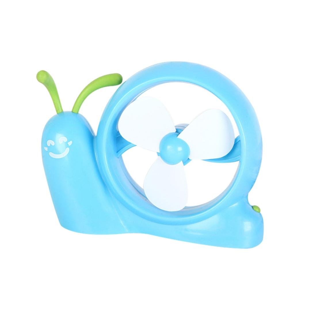 Fabal Portable Snail Fan PC USB Power Laptop Desk Cooling Cooler Air Fan USB Cooler (blue)