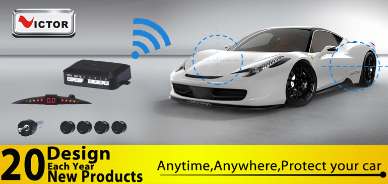 China factory Car backup with front/rear camera mirror wireless parking sensor