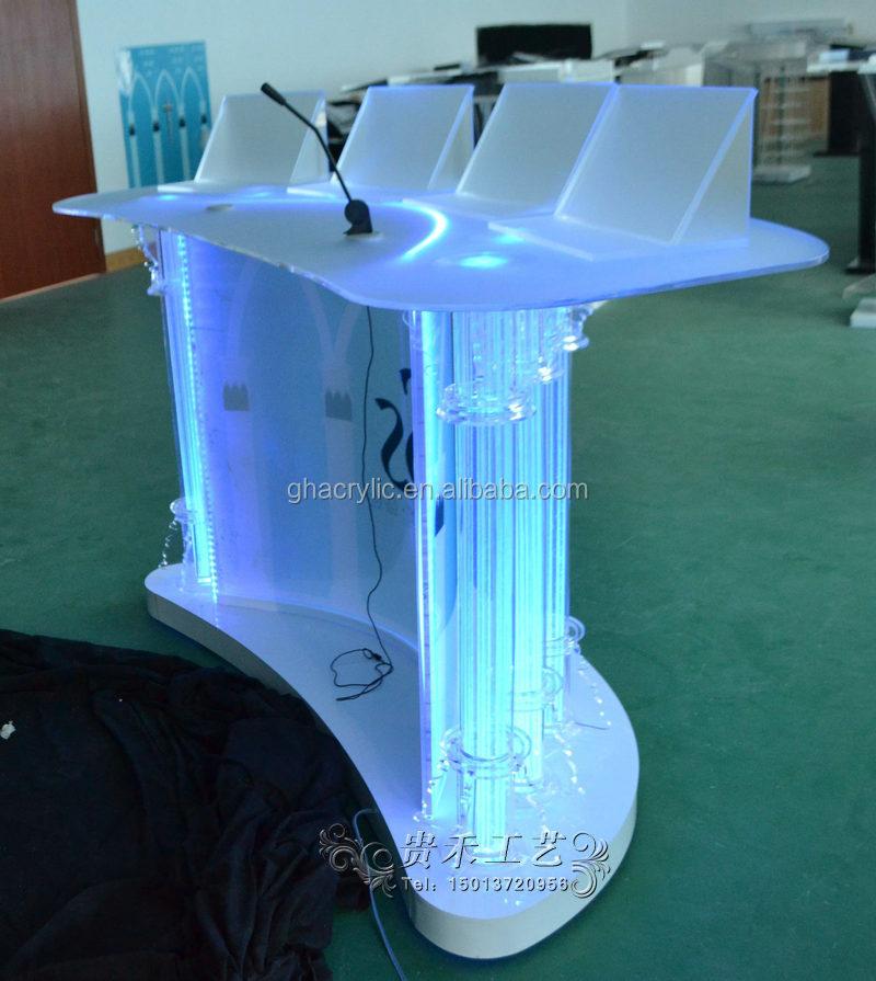 Colorful Acrylic Bar Table With LED Lights, Bar Table For Bar, Dj Equipment