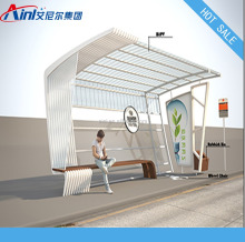 Outdoor Furniture Advertising Bus Stop Shelter For City Center, Urban Street