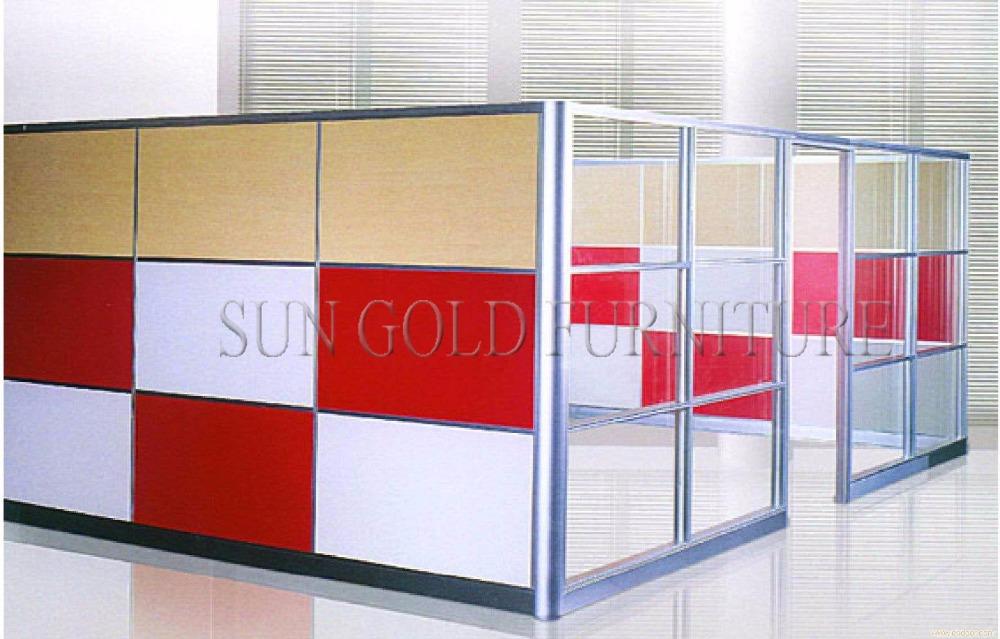 현대 쇼룸 인테리어 디자인 사용 사무실 반 유리 벽 파티션 (SZ ...