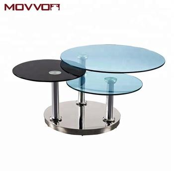 Glass Swivel Coffee Table.3 Levels Rotating 12mm Round Tempered Glass Swivel Coffee Table With Steel Base Buy Round Glass Coffee Table Tempered Glass Coffee Table Glass
