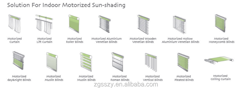 Customized Size Best Price Window Blinds Ready Made Electric ...