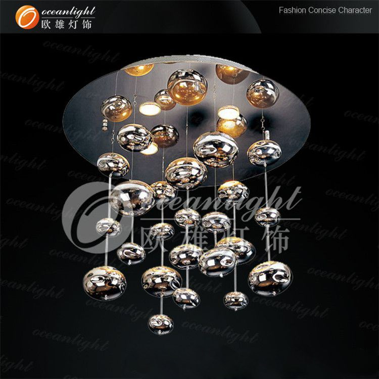 Led Crystal Magic Ball Light Hanging Glass Art Bowl Pendant Om802 60