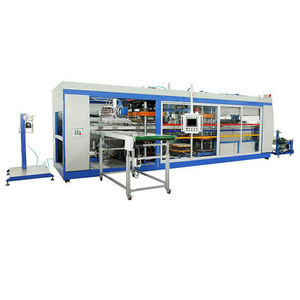 CE approved PP PS PVC clamshell positive and negative all in one thermoforming machine