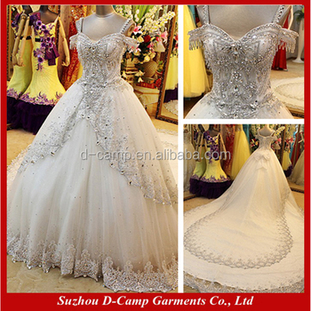 WD076 Latest Pakistani Bridal Dress Collection Luxury Crystal Wedding Gowns