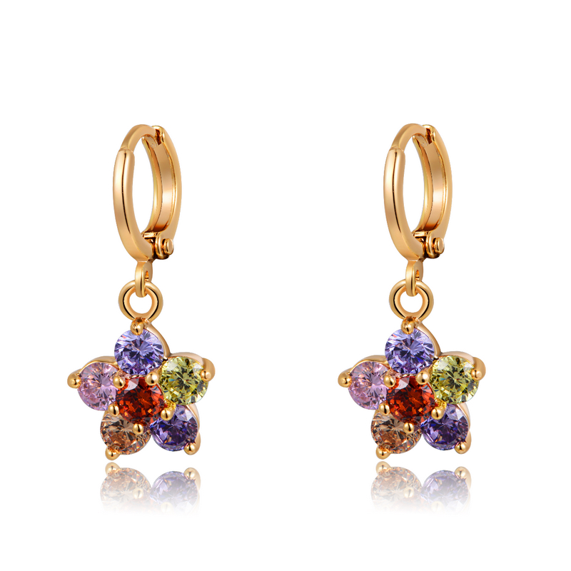 Rinntin Price New Design Stani Jhumke Jewellery Charm Gold Earrings With Aaa Colorful Cubic Zirconia Rime15 Earring