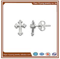 Wholesale Alloy 925 Silver George Michael Cross Earrings for Man