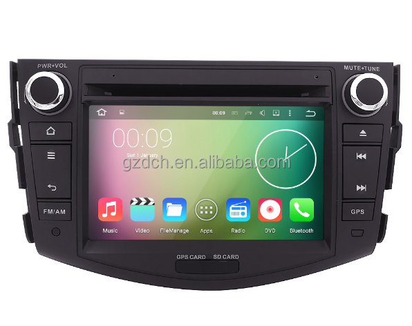 7 inch <strong>android</strong> car dvd player for TOYOTA RAV4 1024*600 quad core 1G+16G 16G no can <strong>bus</strong> function WS-9116