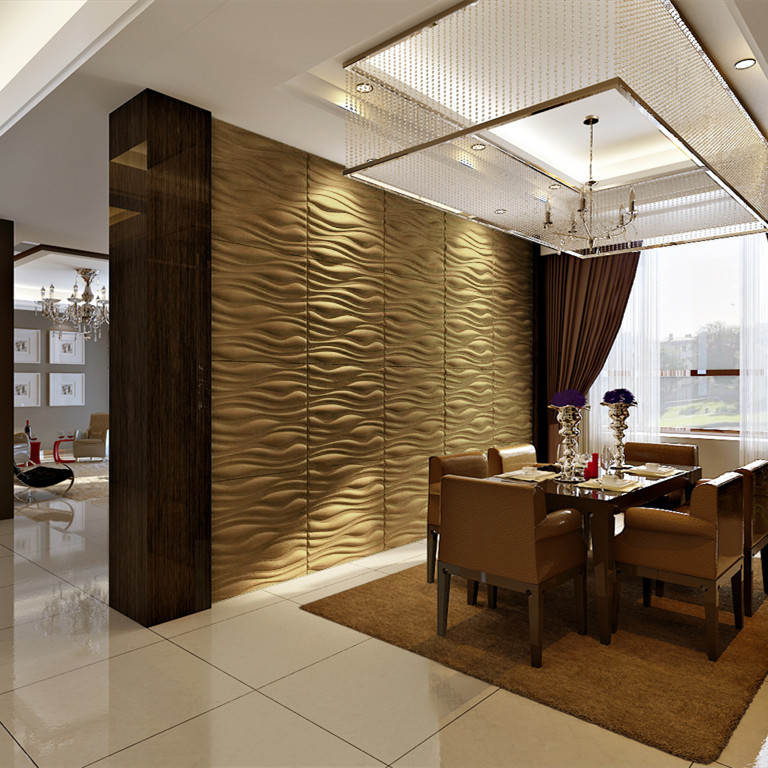 Improve Interior Design Product Sourcing With 3d Home: Bamboo Material 3d Board For Interior Decoration