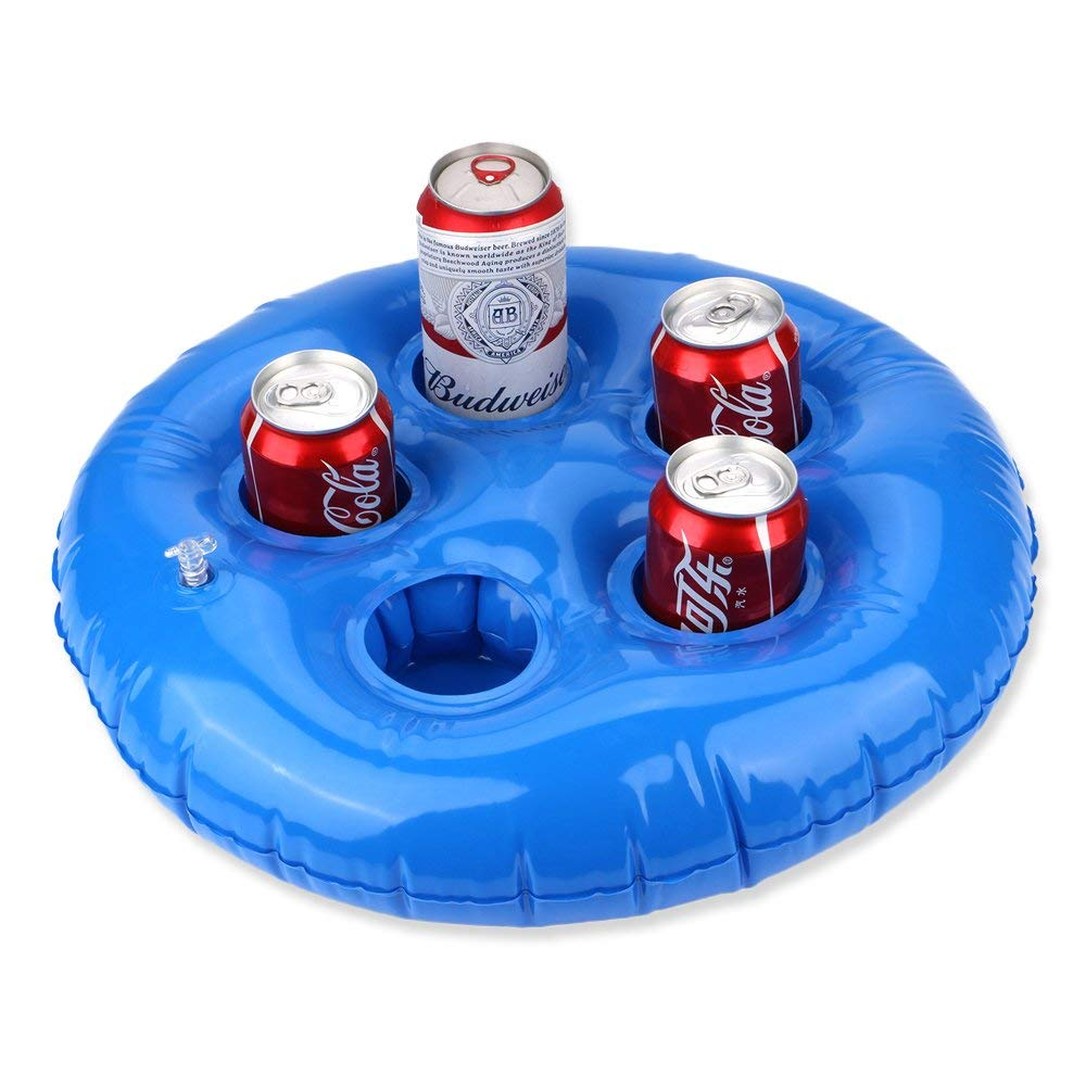 33bb5d6d40ba Get Quotations · Feebria Inflatable Blue Drink Holders for Pool