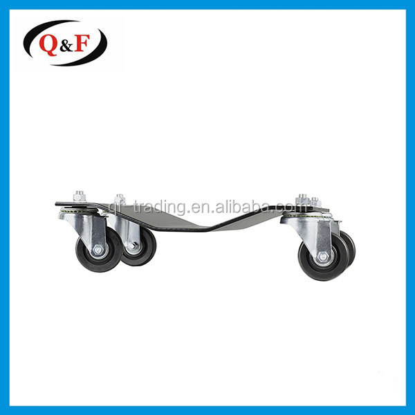 Sturdy roll container tow tire car dolly