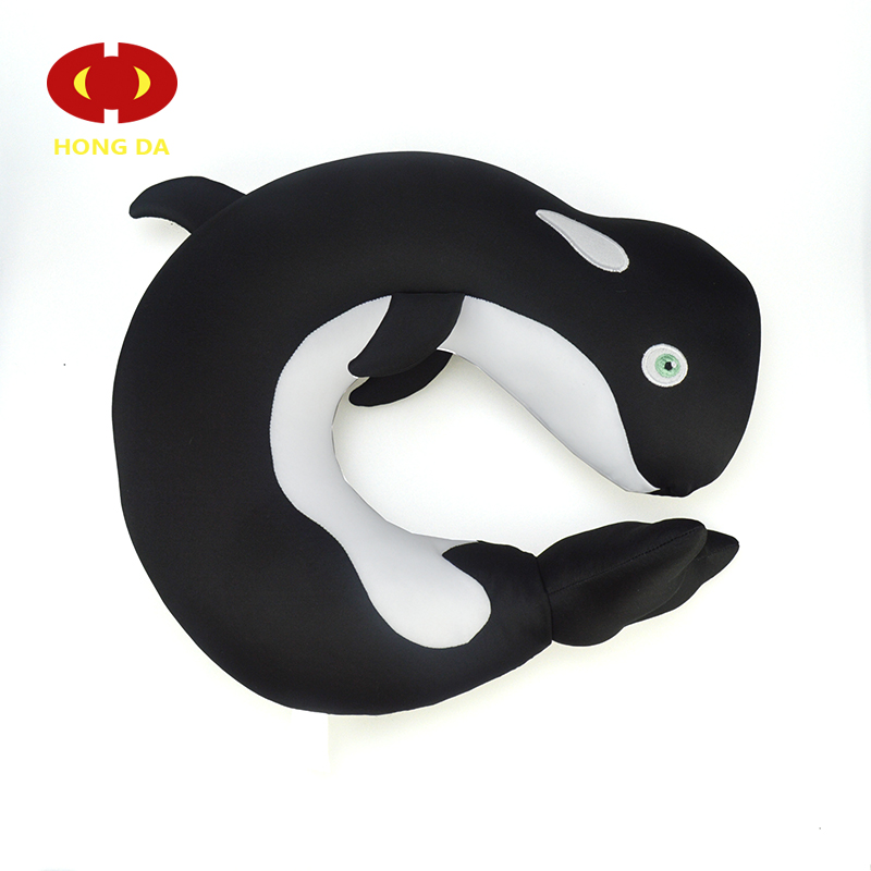 Wholesale Custom Animals Stuffed Whale shape Cooling Microbead Pillow