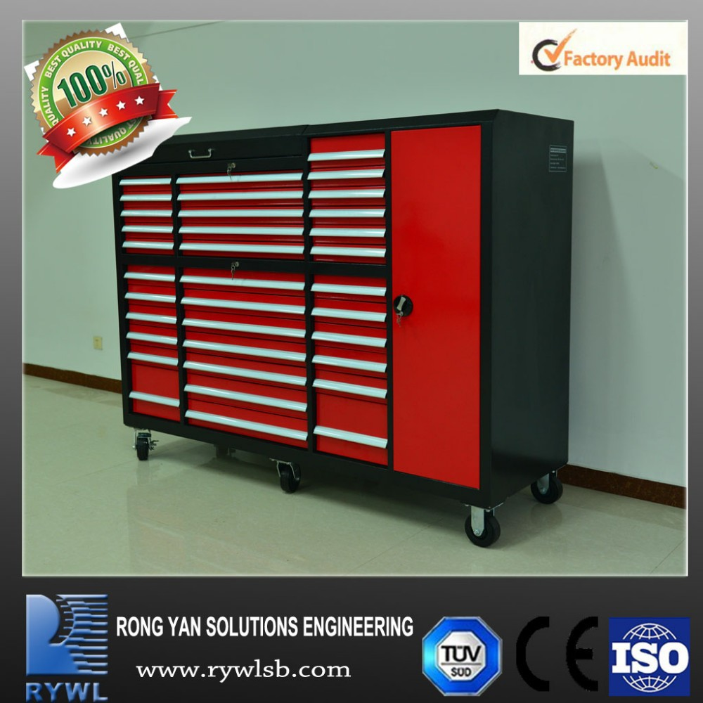 Metal Heavy Duty Overhead Garage Storage Red Tool Cabinet