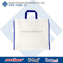 Korea Style China manufacturer wooden handle Canvas Shopping Bag