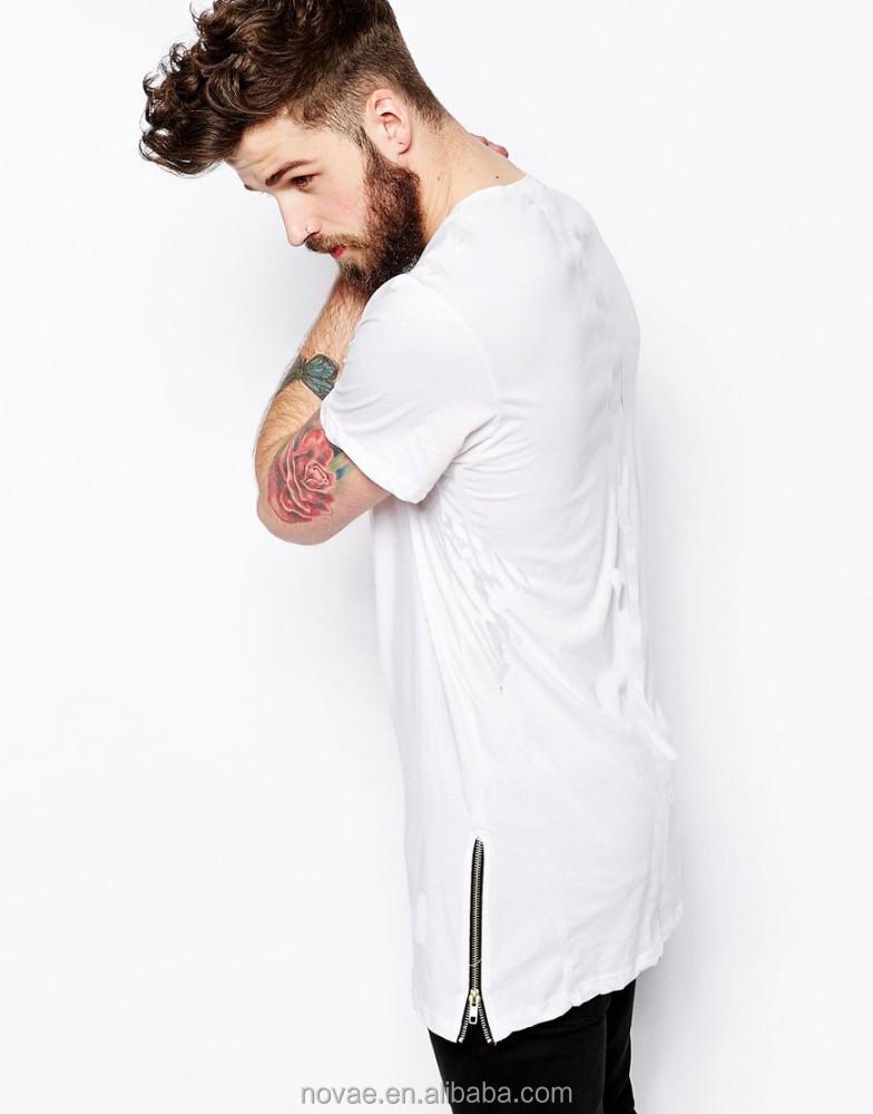 ebene tall tee herren t shirt mit seitlichen rei verschluss t shirts. Black Bedroom Furniture Sets. Home Design Ideas