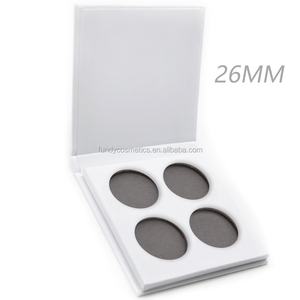 2018 New design white empty eyeshadow palette for 26mm 36mm palette