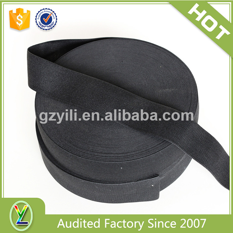Super quality knitted thin black elastic band