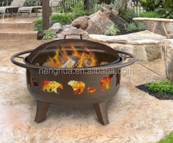 Factory Patten Golden Fire Bowl Garden Treasure Fire Pit