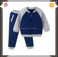 Hoodies children clothing sets with zip fabric for child wear