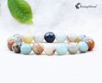 Hot sale Agate stone 6mm natural gemstone beads bracelet powerful strength bracelet