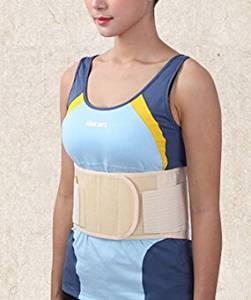 Healsmile® Medical Waist Lumbar Protection Band Back support Brace Belt for Lumbar Disc Herniation Back Waist Lumbar Pain Muscle Strain with Summer Thin Breathable Sports Waist Belt (M, Beige)